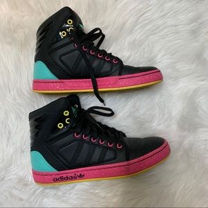 Adidas High Top Basketball Sneakers Size 6.5
